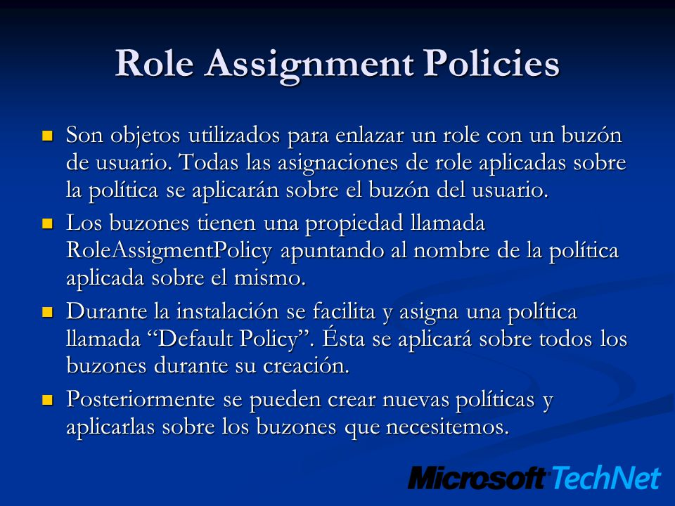 Role Assignment Policies