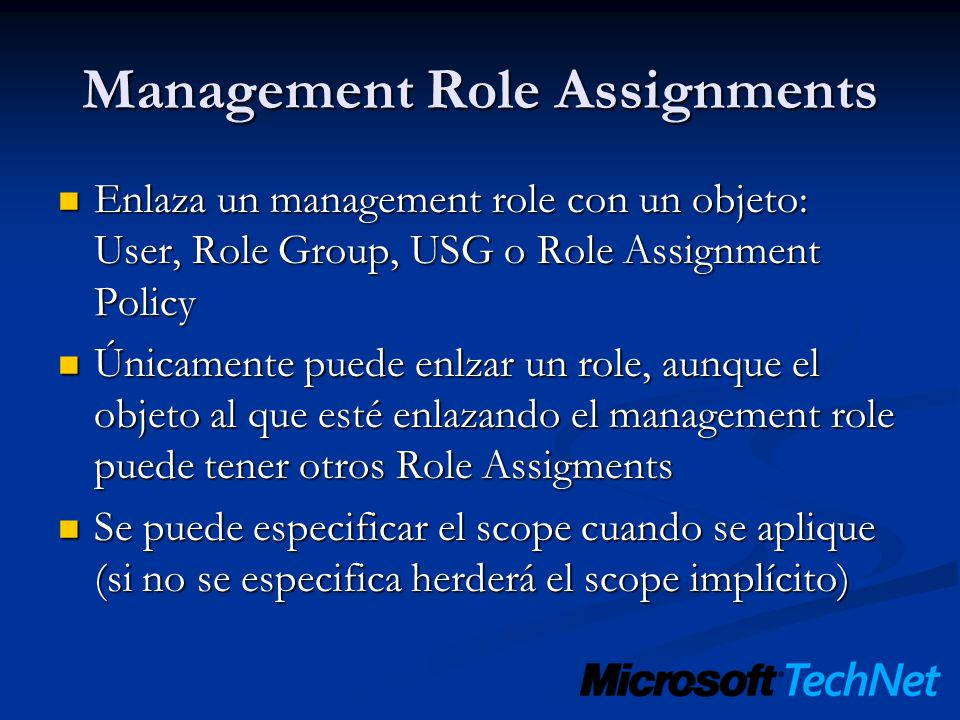 Management Role Assignments