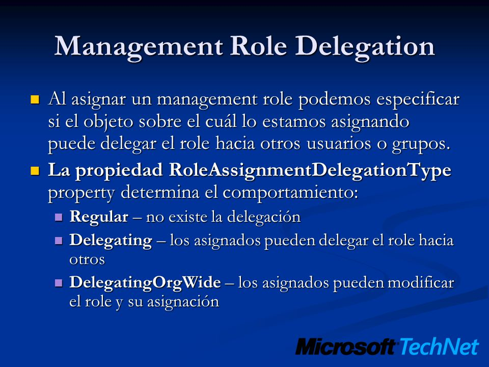 Management Role Delegation