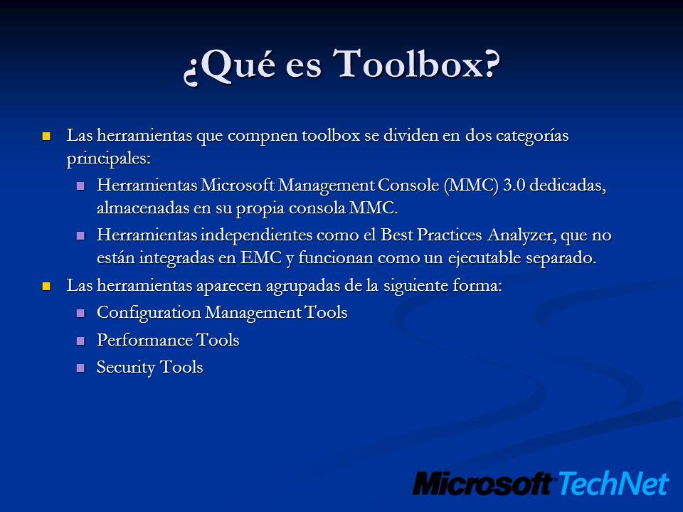 ¿Qué es Toolbox Las herramientas que compnen toolbox se dividen en dos categorías principales:
