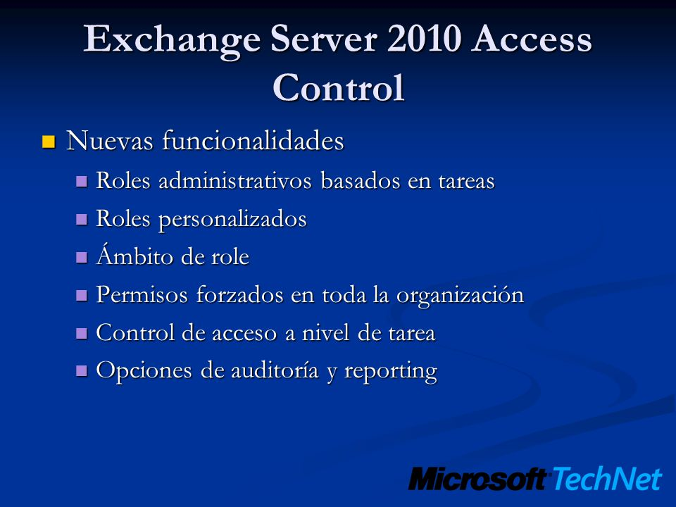 Exchange Server 2010 Access Control