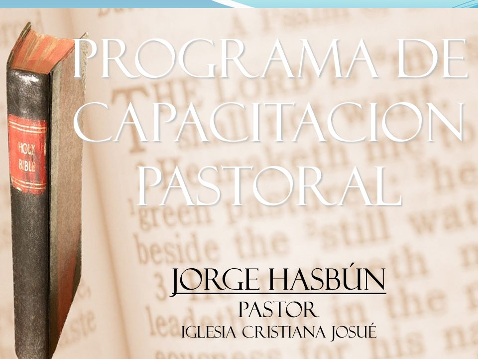 PROGRAMA DE CAPACITACION PASTORAL