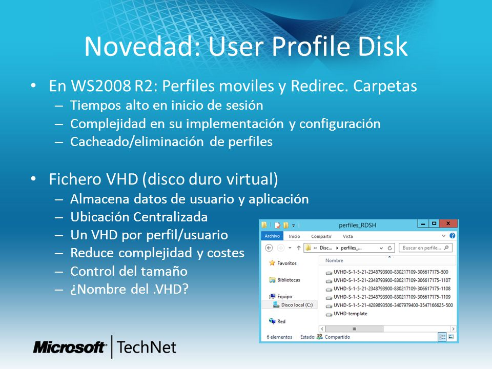 Novedad: User Profile Disk