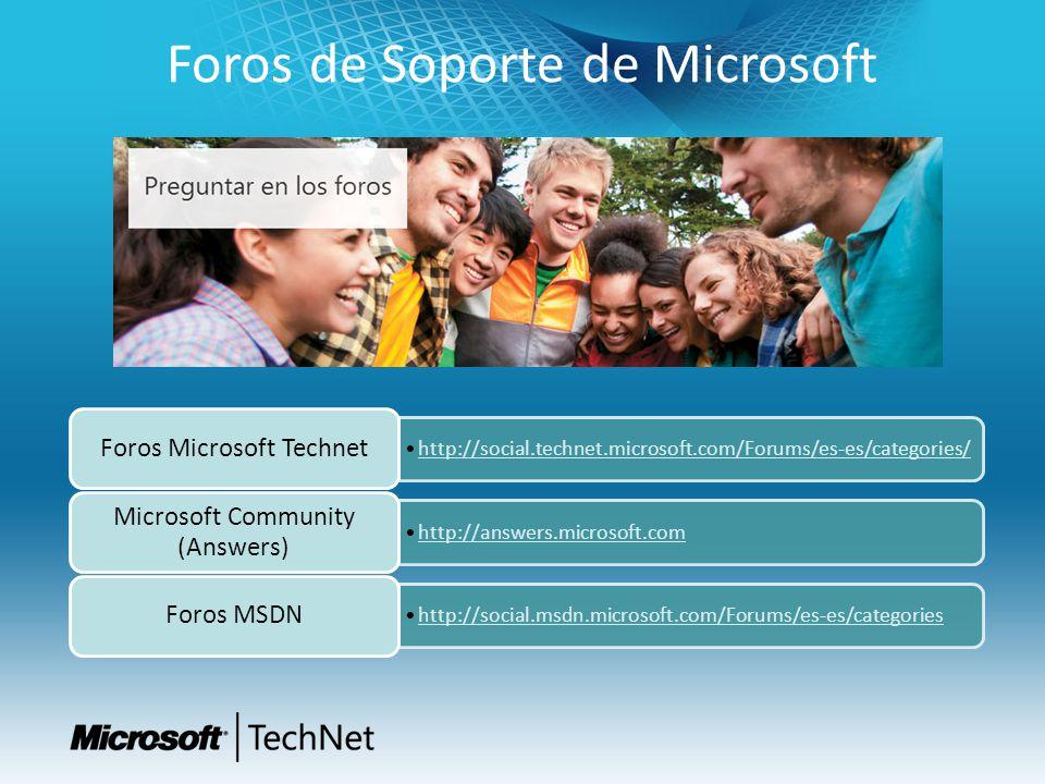 Foros de Soporte de Microsoft