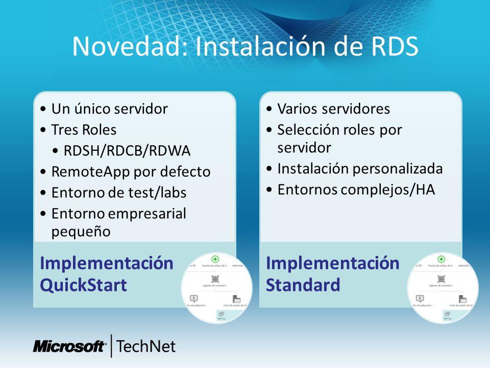 Novedad: Instalación de RDS