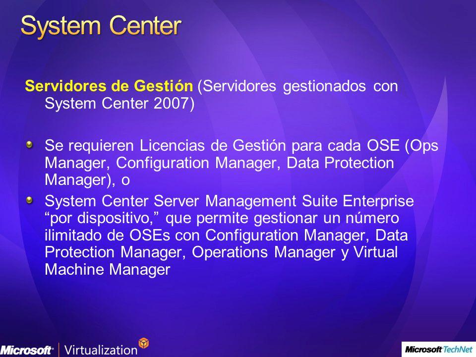 System Center Servidores de Gestión (Servidores gestionados con System Center 2007)