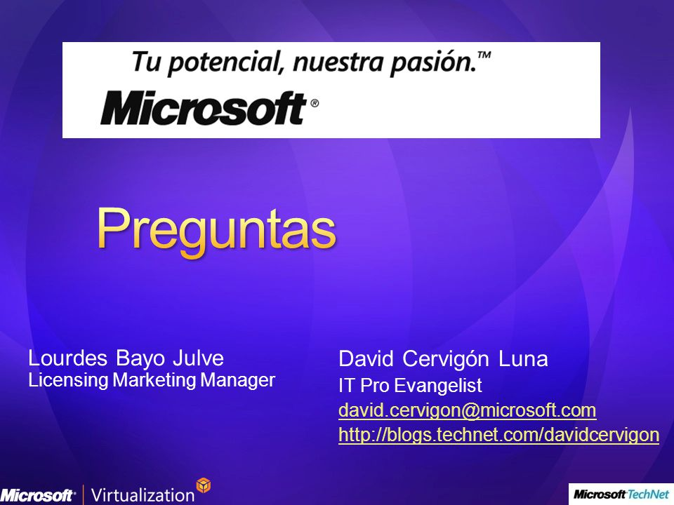 Preguntas Lourdes Bayo Julve David Cervigón Luna