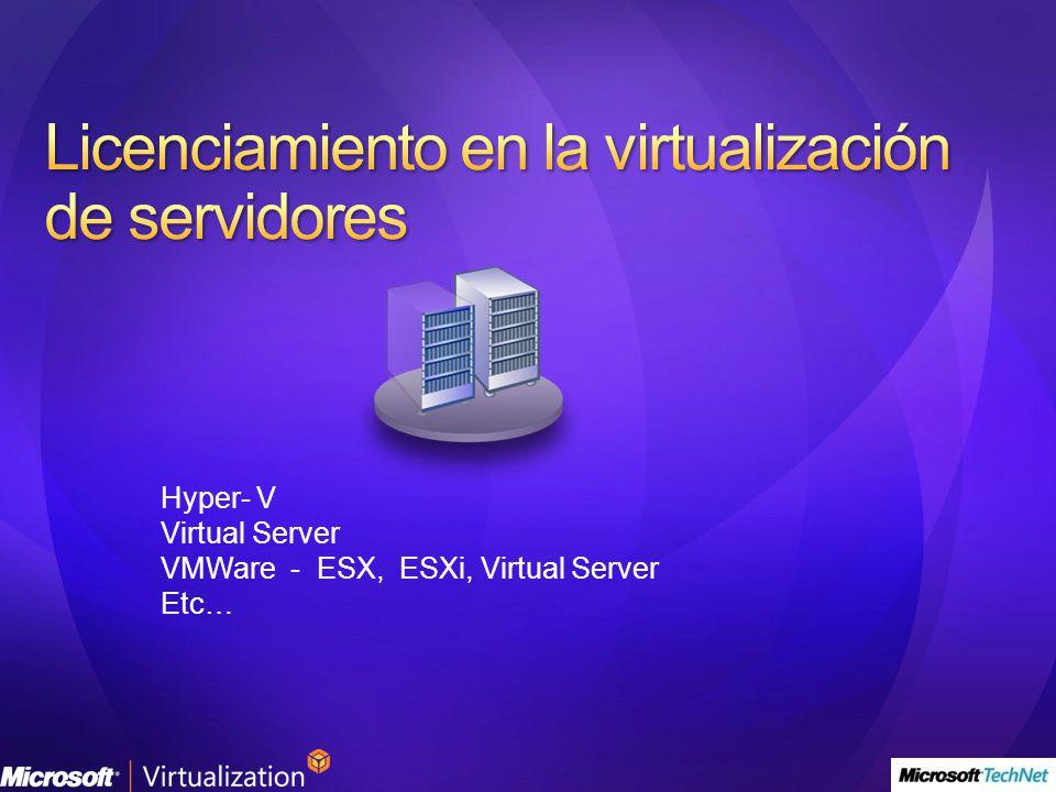Licenciamiento en la virtualización de servidores