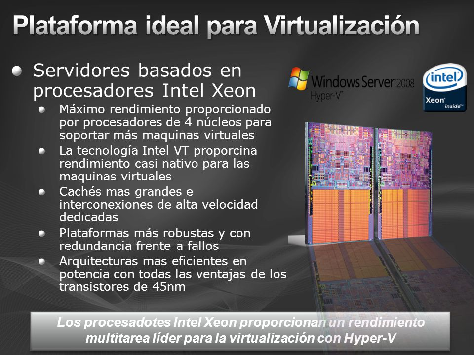 Plataforma ideal para Virtualización