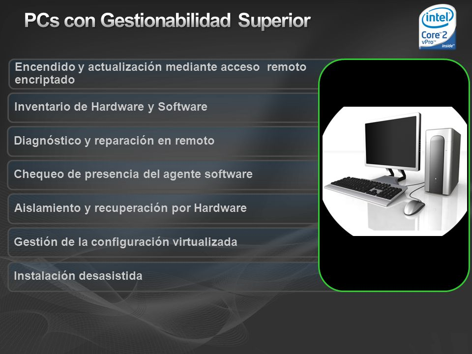 PCs con Gestionabilidad Superior