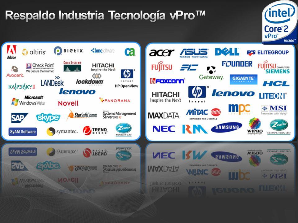 Respaldo Industria Tecnología vPro™