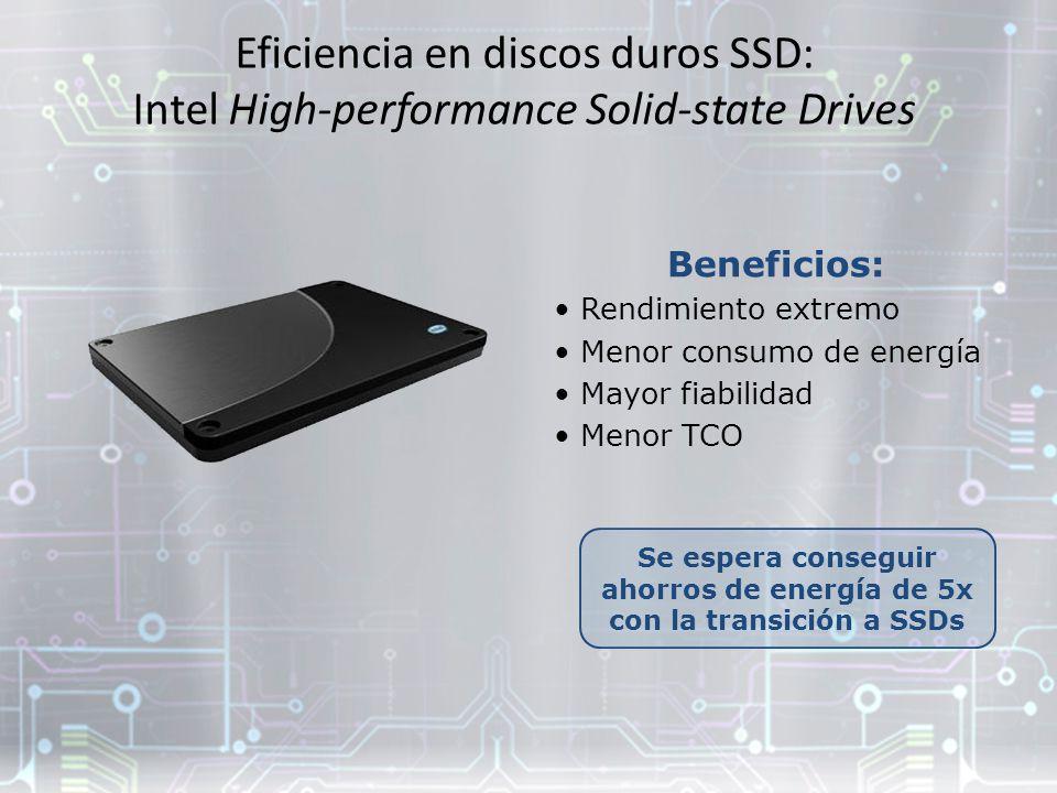 Se espera conseguir ahorros de energía de 5x con la transición a SSDs
