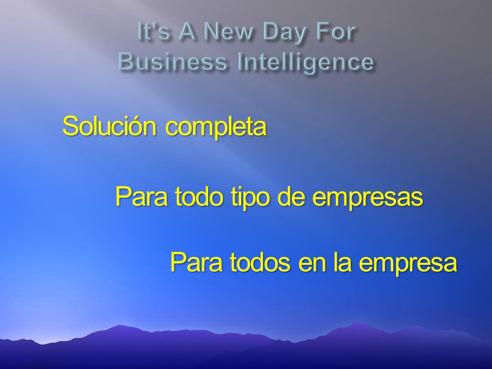 It s A New Day For Business Intelligence