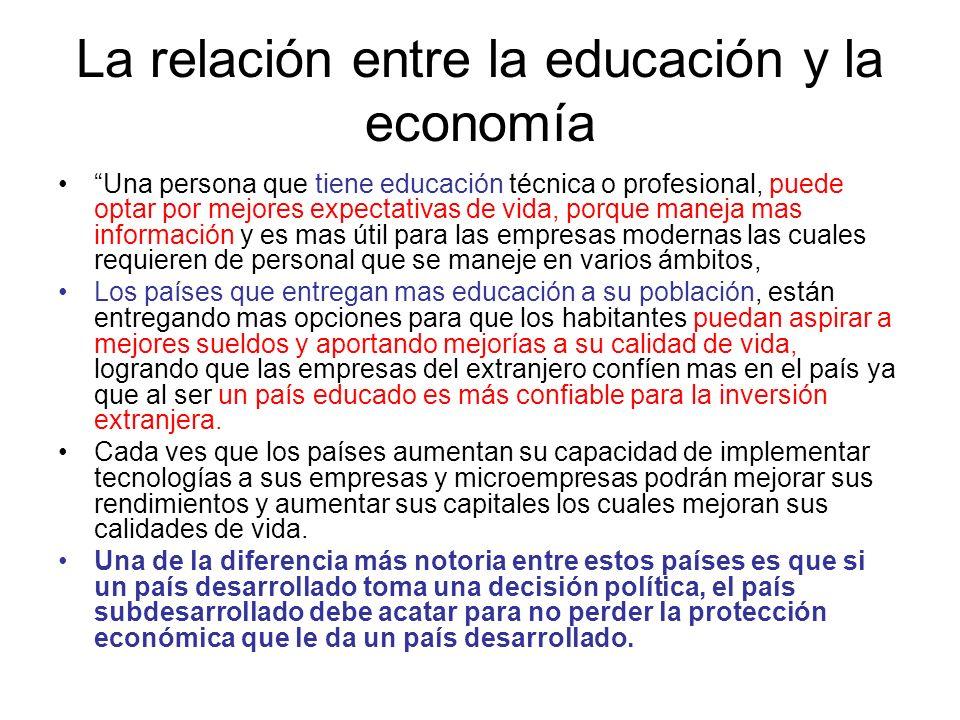 La relación entre la educación y la economía