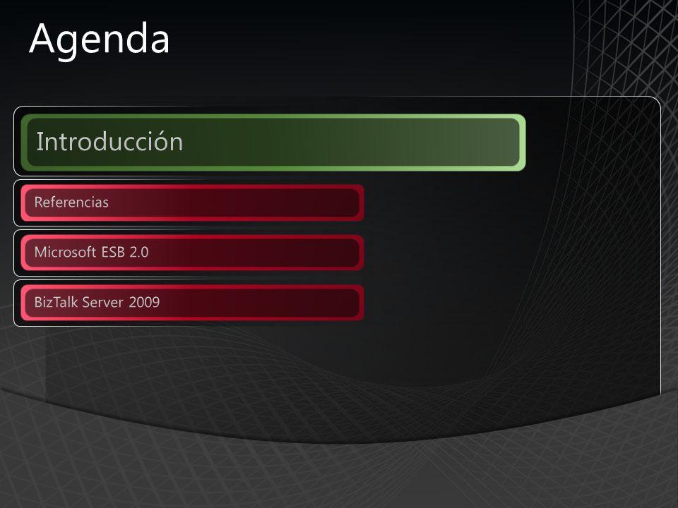 Agenda Introducción Referencias Microsoft ESB 2.0 BizTalk Server 2009
