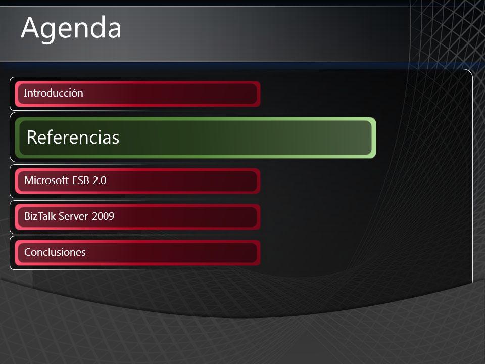 Agenda Referencias Introducción Microsoft ESB 2.0 BizTalk Server 2009