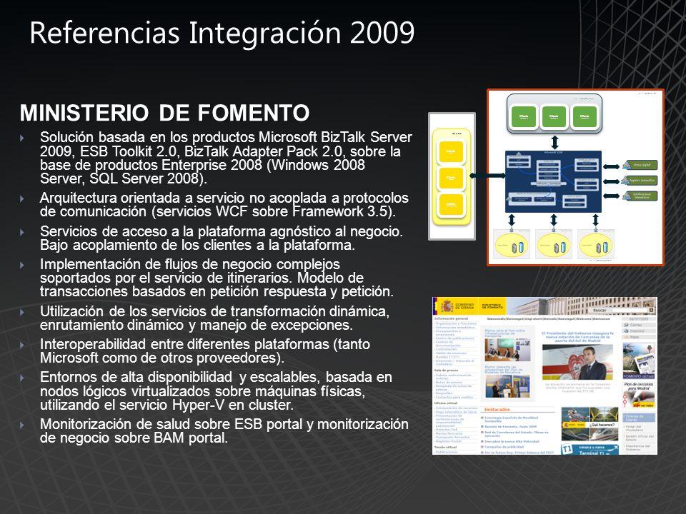 Referencias Integración 2009