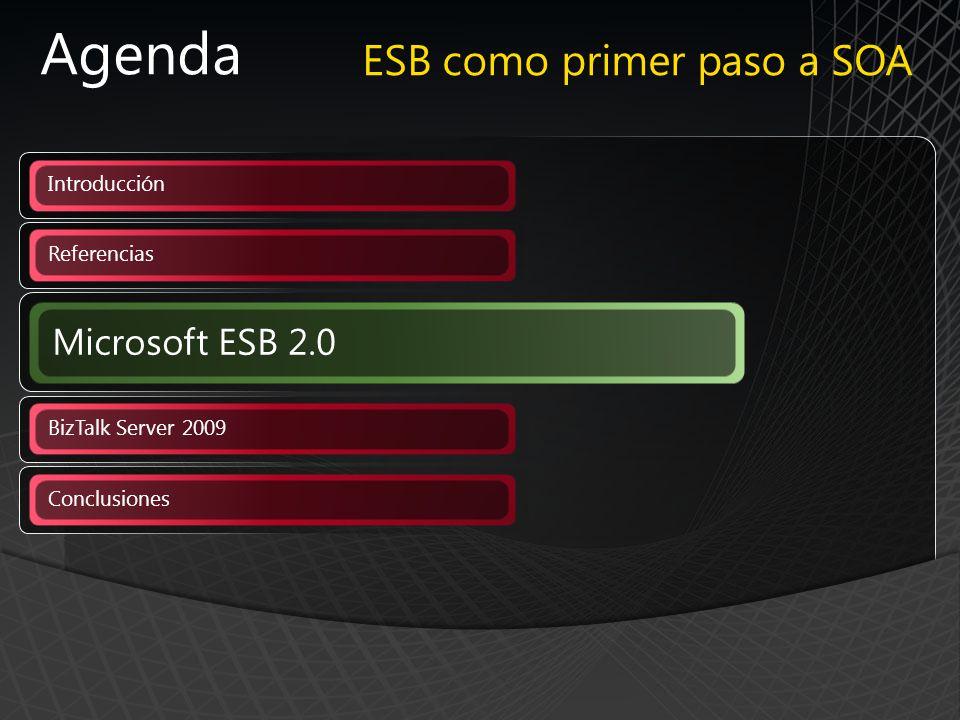 Agenda ESB como primer paso a SOA Microsoft ESB 2.0 Introducción