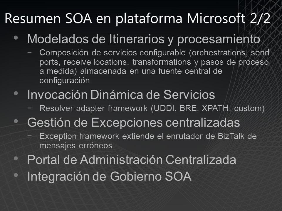 Resumen SOA en plataforma Microsoft 2/2
