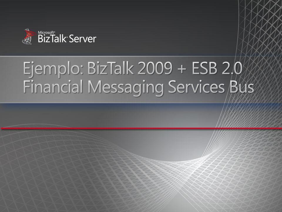 Ejemplo: BizTalk 2009 + ESB 2.0 Financial Messaging Services Bus