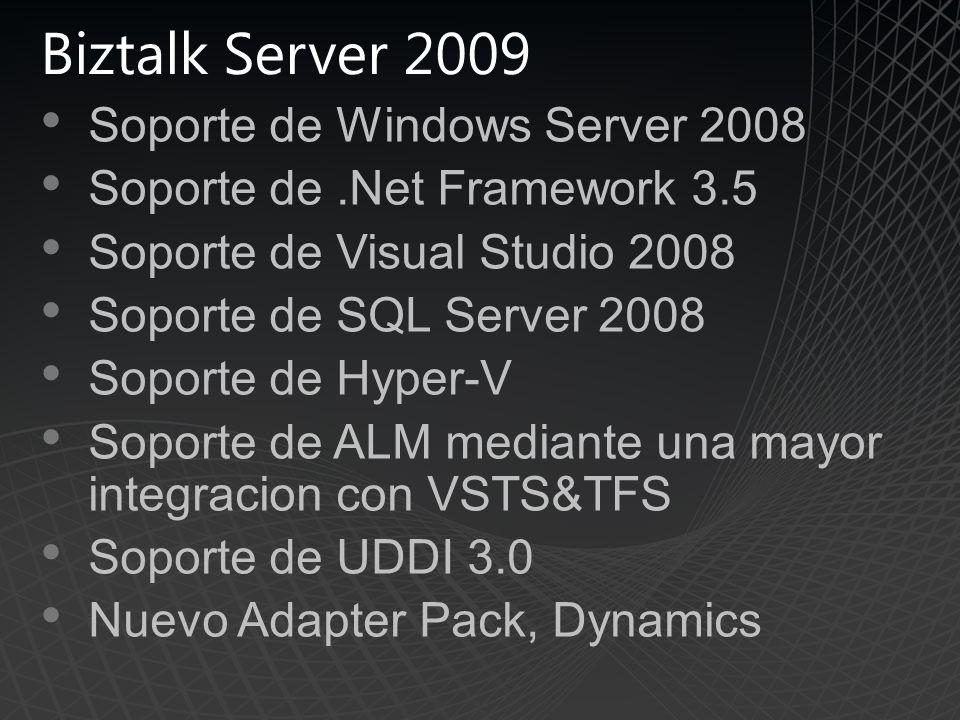 Biztalk Server 2009 Soporte de Windows Server 2008