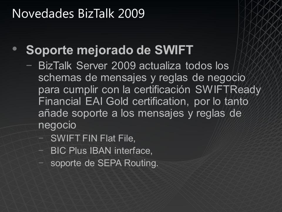 Soporte mejorado de SWIFT