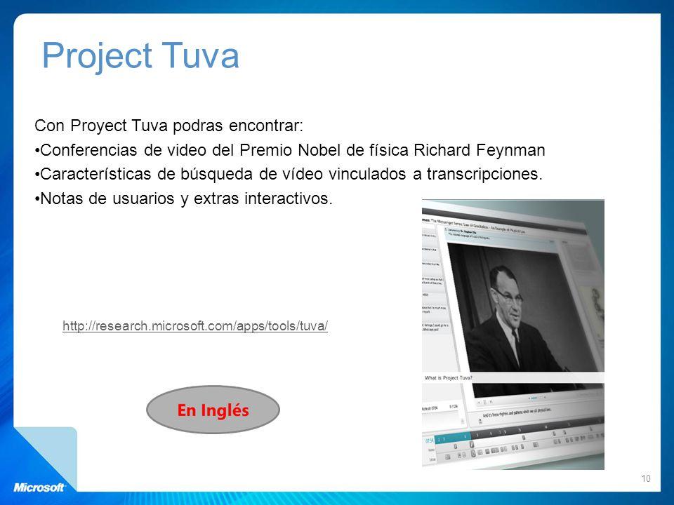 Project Tuva Con Proyect Tuva podras encontrar:
