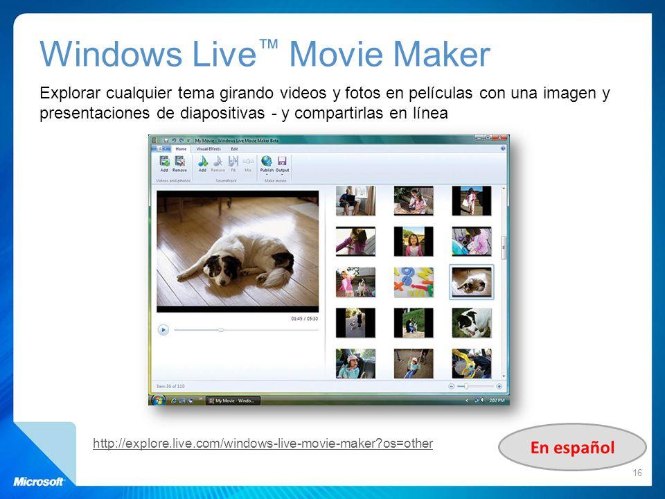 Windows Live™ Movie Maker