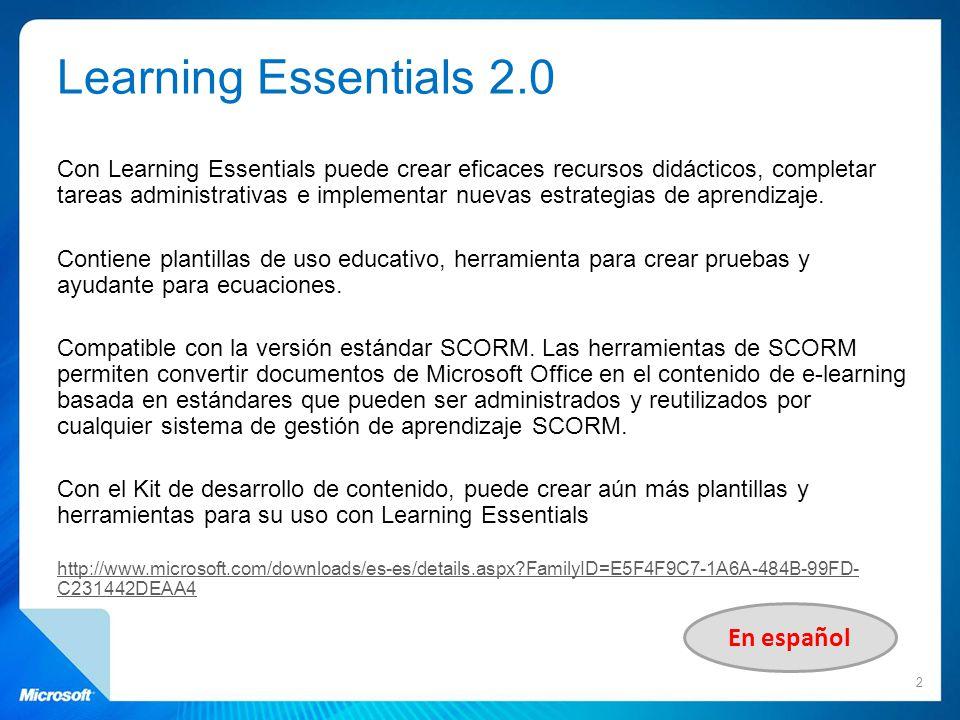 Learning Essentials 2.0 En español