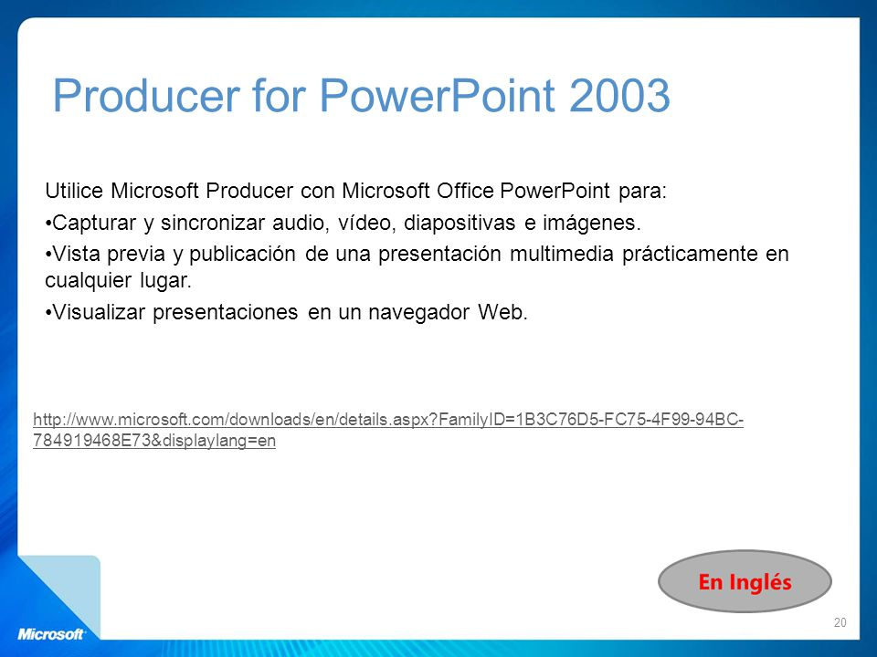 Producer for PowerPoint 2003