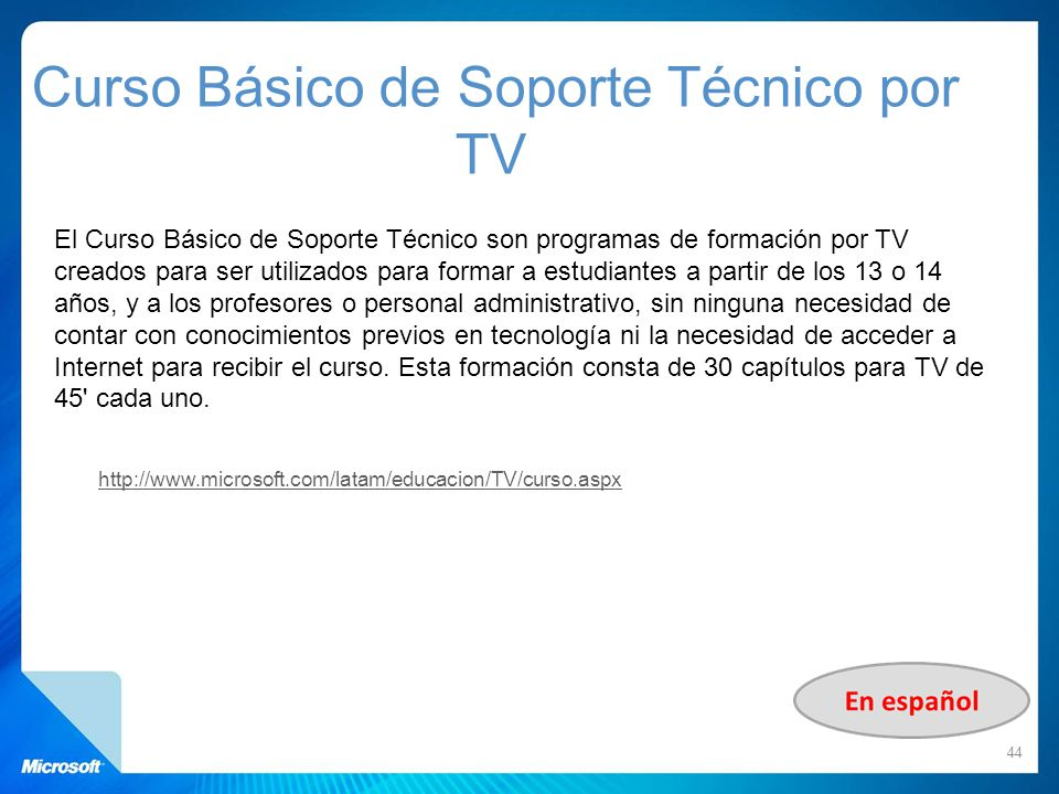 Curso Básico de Soporte Técnico por TV
