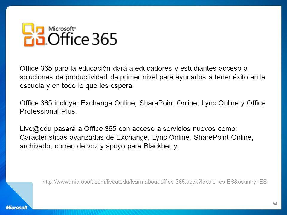 Office 365 para la educación dará a educadores y estudiantes acceso a soluciones de productividad de primer nivel para ayudarlos a tener éxito en la escuela y en todo lo que les espera