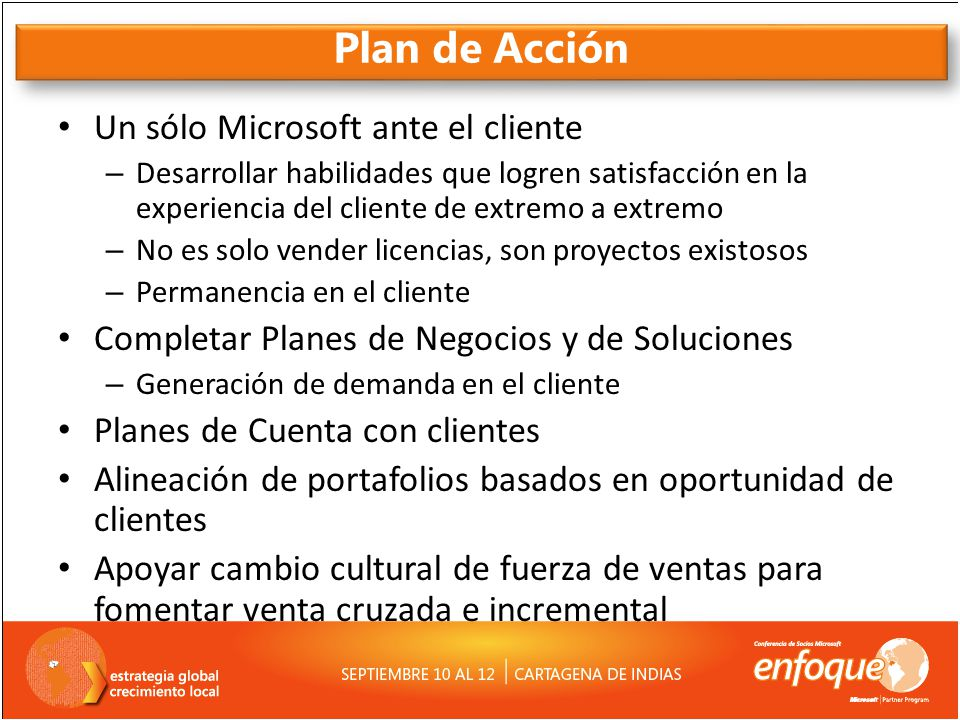 Plan de Acción Un sólo Microsoft ante el cliente