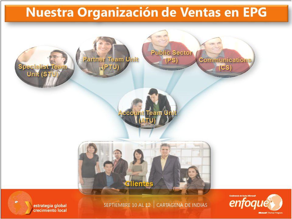 Nuestra Organización de Ventas en EPG