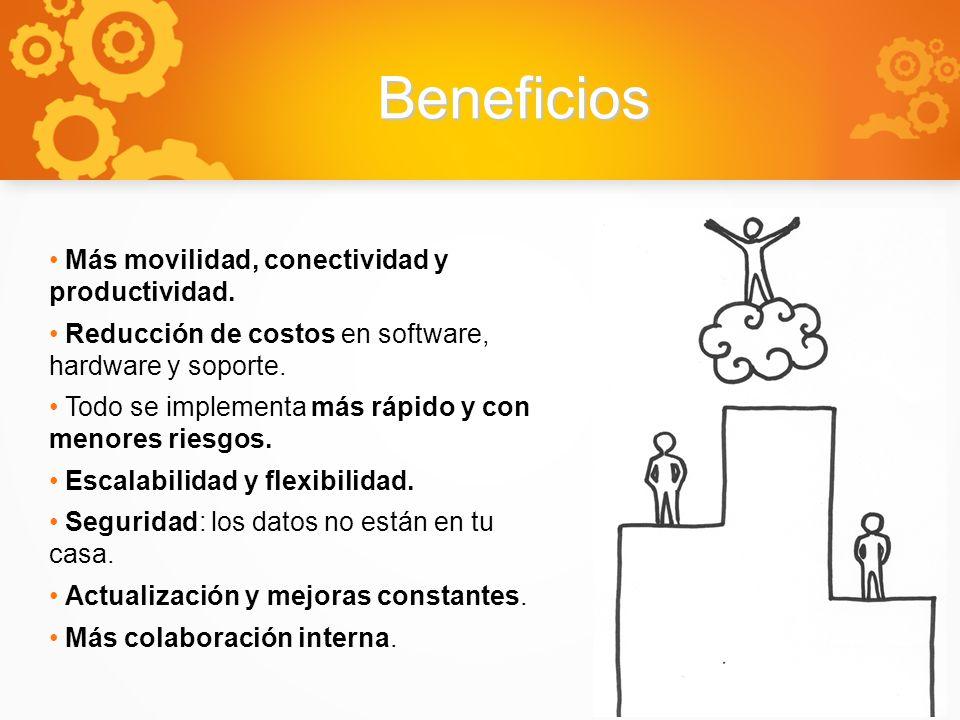 Beneficios Más movilidad, conectividad y productividad.