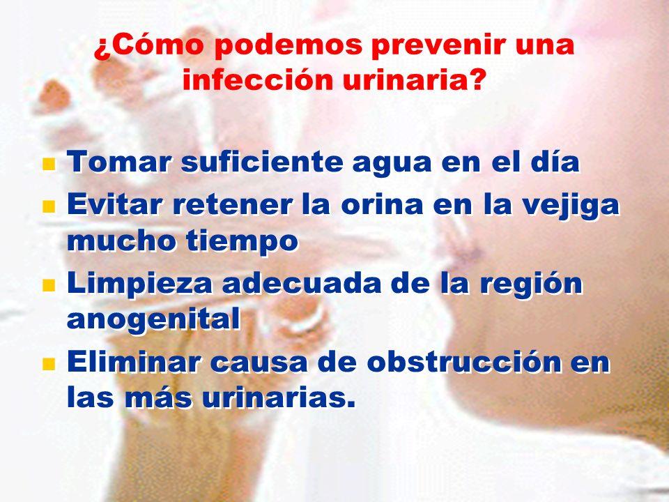 ¿Cómo podemos prevenir una infección urinaria