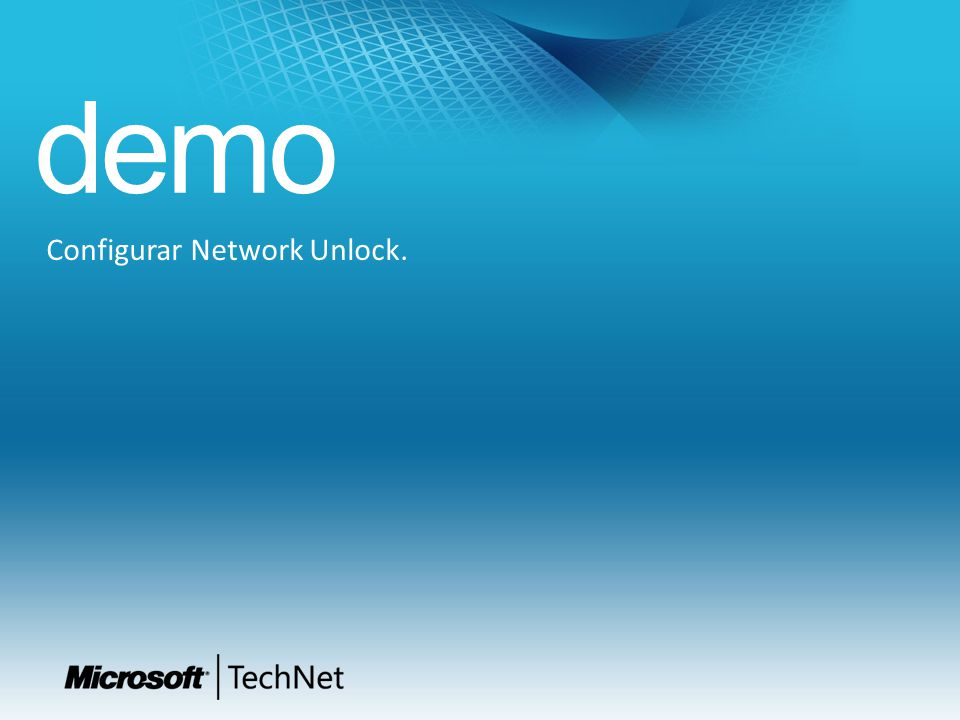 demo Configurar Network Unlock.