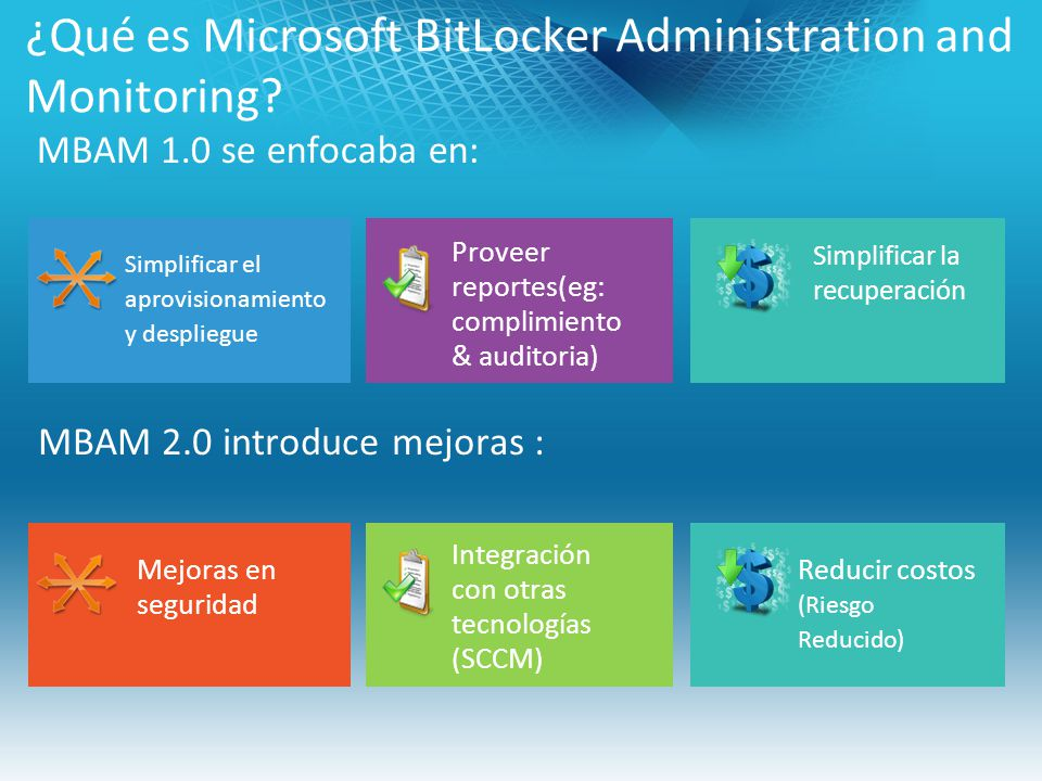 ¿Qué es Microsoft BitLocker Administration and Monitoring
