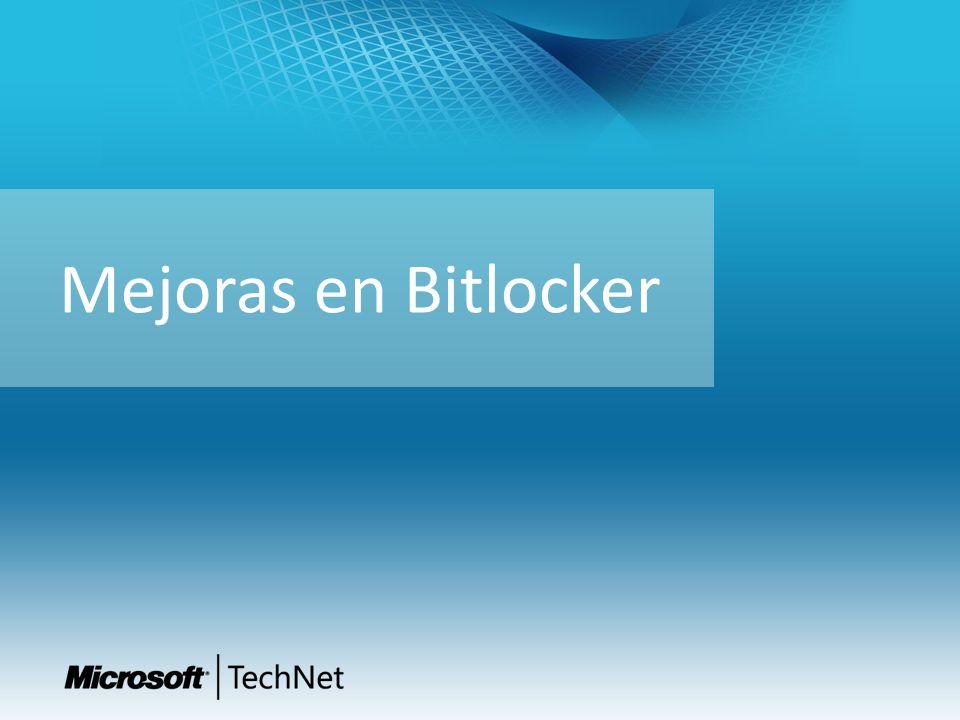 Mejoras en Bitlocker