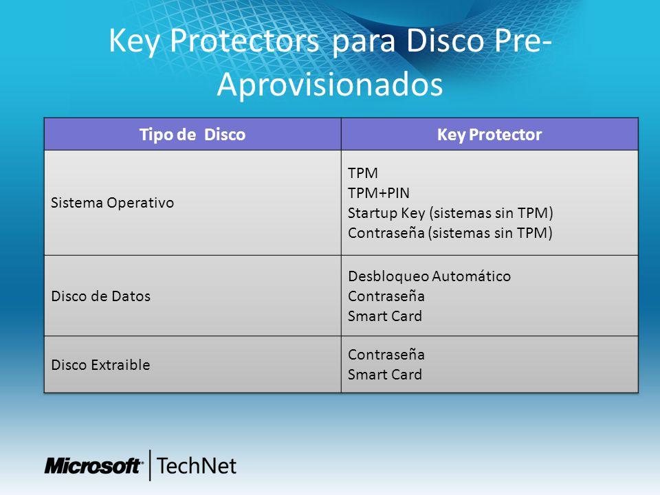 Key Protectors para Disco Pre-Aprovisionados