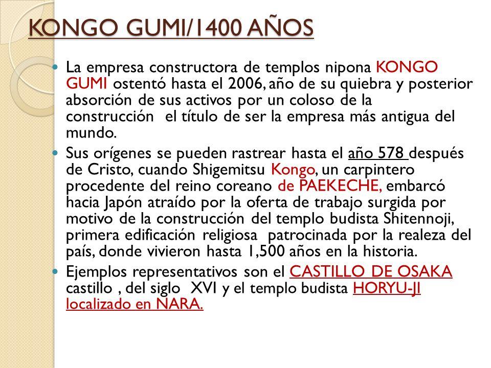 KONGO GUMI/1400 AÑOS