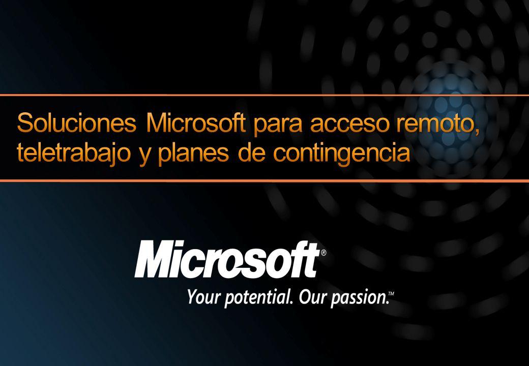 Soluciones Microsoft para acceso remoto, teletrabajo y planes de contingencia