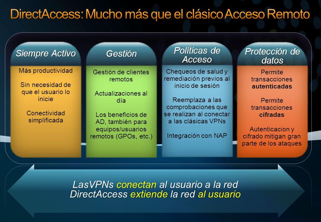 DirectAccess: Mucho más que el clásico Acceso Remoto