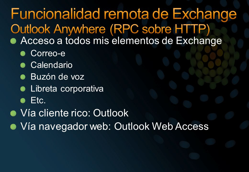 Funcionalidad remota de Exchange Outlook Anywhere (RPC sobre HTTP)