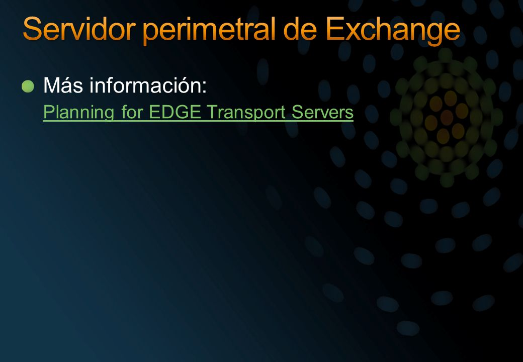 Servidor perimetral de Exchange