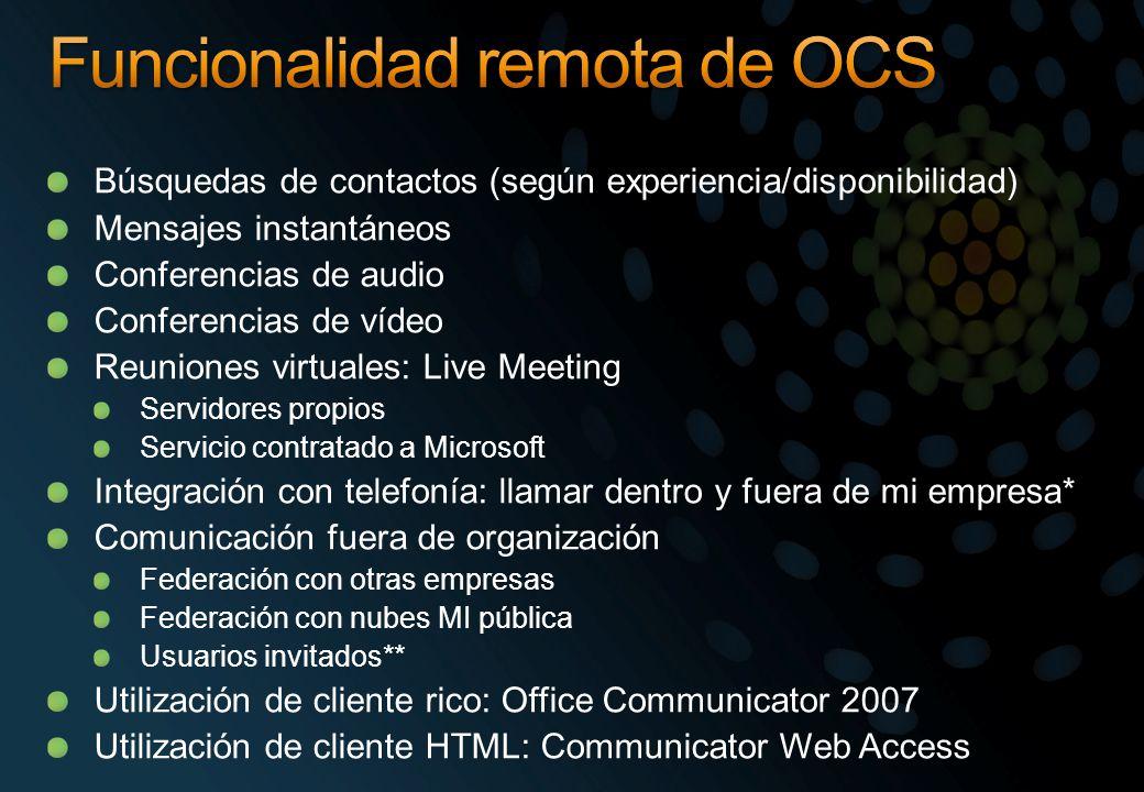 Funcionalidad remota de OCS
