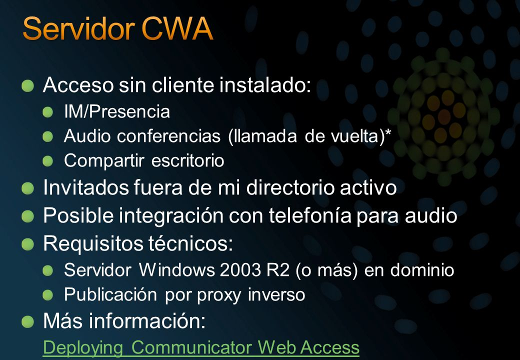Servidor CWA Acceso sin cliente instalado: