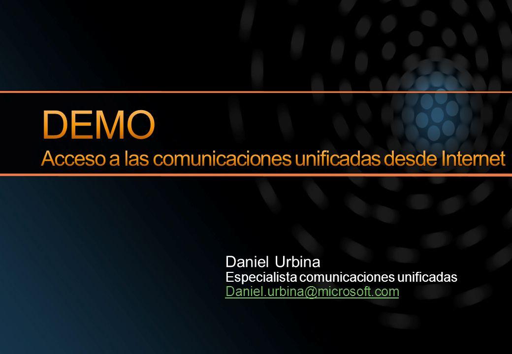 DEMO Acceso a las comunicaciones unificadas desde Internet
