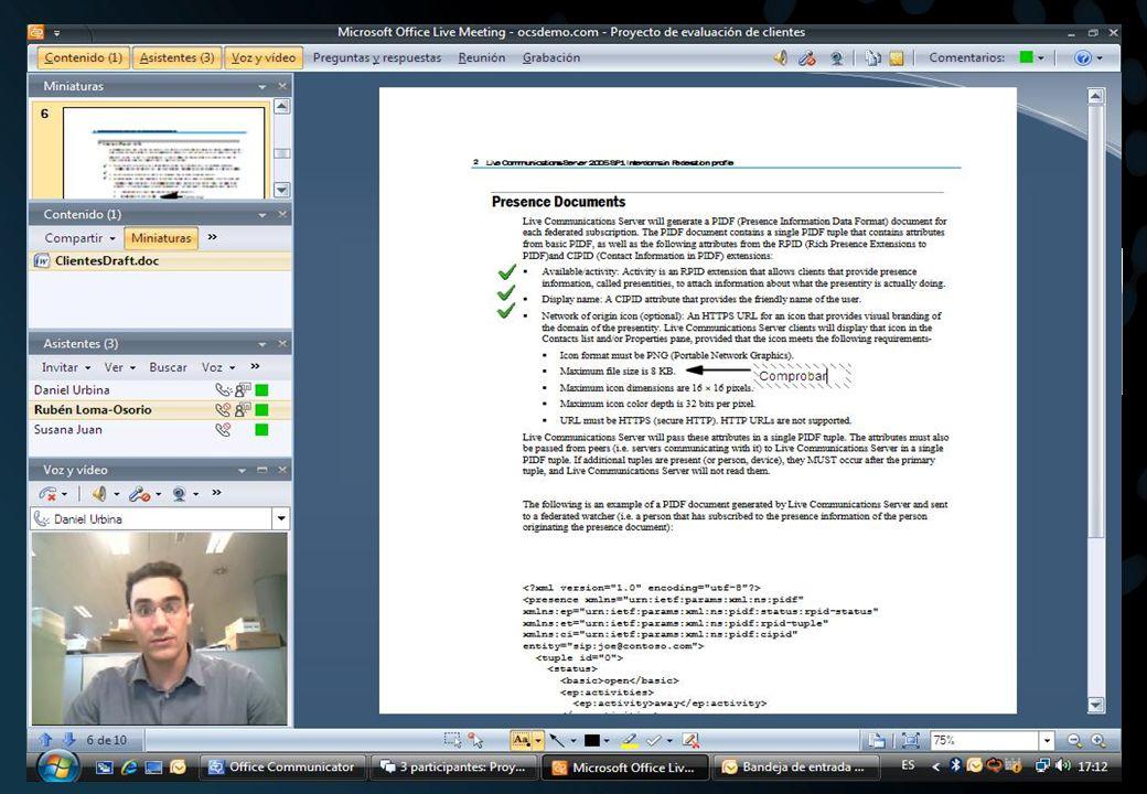 Office Communicator 2007 Utilización de la información de contexto