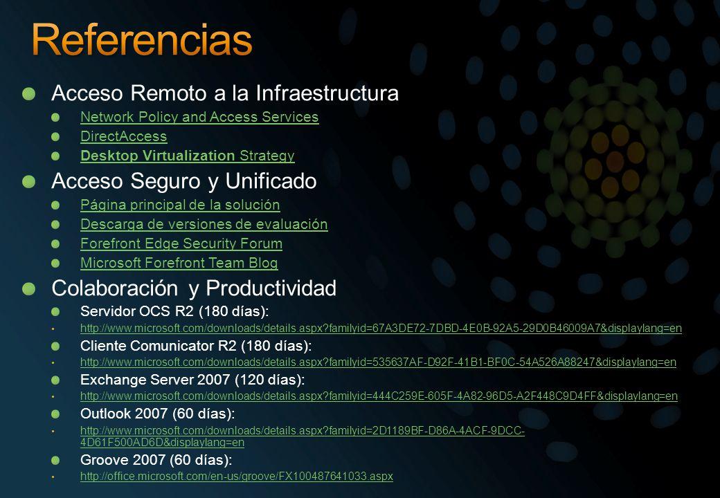Referencias Acceso Remoto a la Infraestructura